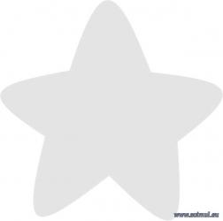 Sticker decorativ reflectorizant Stea
