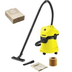 Home kit- Aspirator uscatumed Karcher WD 3 1000 W + 5 saci din hartie extra Functie de suflare GalbenNegru 1.629-800.0---6.959-130.0 Aspiratoare