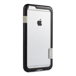 Husa Bumper Anti-Shock Walnutt pentru Apple iPhone 11 Pro Frame Cover Dual Color Silicon Premium Negru-Gri Huse Telefoane