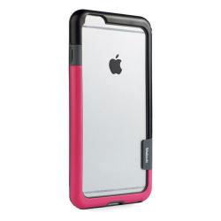 Husa Bumper Anti-Shock Walnutt pentru Apple iPhone 11 Pro Frame Cover Dual Color Silicon Premium Negru-Roz Huse Telefoane