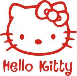 Sticker decorativ reflectorizant Hello Kitty