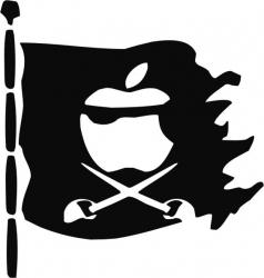 Sticker decorativ reflectorizant Steag Pirati