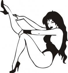 Sticker decorativ Fata Sexy