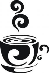 Sticker decorativ pereti / mobilier / geamuri Ceasca Cafea