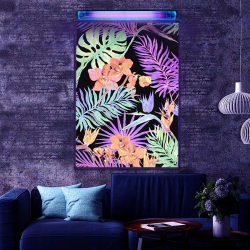 Poster fluorescent reactiv UV Exotic Leaves 86x61cm efect neon blacklight Tablouri