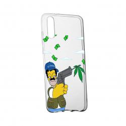 Husa de protectie Narcos Simpson Movie pentru Samsung Galaxy M10 rezistenta la uzura anti-alunecare din silicon Premium 441