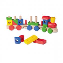 Jucarie din lemn Joueco - Trenulet