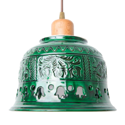 Pendul ceramica traditionala de Corund Radacini Laleaua Corpuri de iluminat