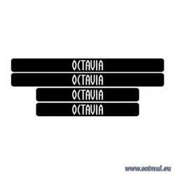 Set protectie praguri adezive Skoda Octavia - sticker decorativ