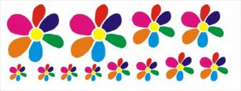 Set stickere decorative auto Floricele - 12 bucati