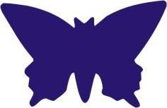 Sticker decorativ Fluture