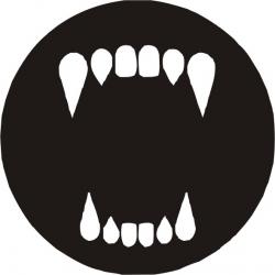 Sticker decorativ pereti / mobilier / geamuri Dinti Vampir