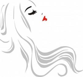 Sticker decorativ pereti / mobilier / geamuri Fata Par Lung