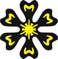 Sticker decorativ pereti / mobilier / geamuri Floare