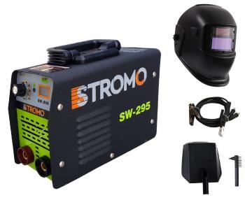 Set Aparat de Sudura - Invertor Stromo 295a 1.6-5mm toate accesoriile sunt incluse + Masca de sudura heliomata
