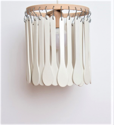 Candelabru Firesq-lemn alb Corpuri de iluminat