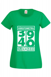 Tricou barbatesc personalizat Fruit of the loom verde Varstometru 40 ani S Tricouri dama