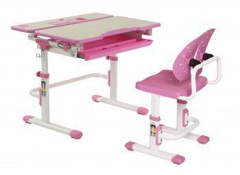 Set birou si scaun copii ergonomic reglabil in inaltime ErgoK S404 Roz