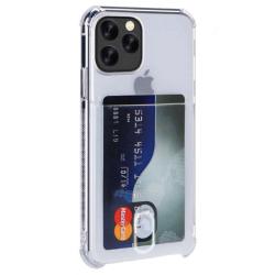 Husa Card Holder Shockproof Silicon High Tech pentru iPhone 11 Pro Max Crystal Clear Huse Telefoane