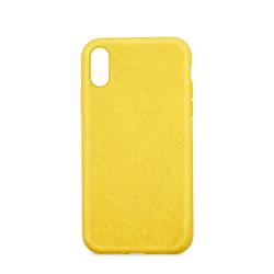 Husa Forever Bioio pentru Apple iPhone 11 Pro Eco-freindly Compozitie din plante Biodegradabila Galben Huse Telefoane