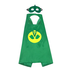 Set 2 piese pelerina si masca Eroi in pijama verde - Shopi Costume serbare