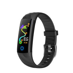 Bratara fitness inteligenta TKY-S5 cu functie de monitorizare ritm cardiac Tensiune arteriala Monitorizare somn Neagra