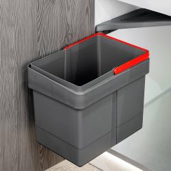 Cos de gunoi 15 l incorporabil cu capac automat gri antracit