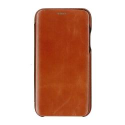 Husa book 360 din piele naturala Icarer pentru iPhone 11 Pro maro Accesorii Diverse Telefoane