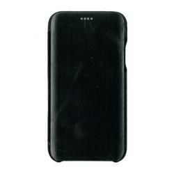 Husa book 360 din piele naturala Icarer pentru iPhone 11 Pro Max negru Accesorii Diverse Telefoane