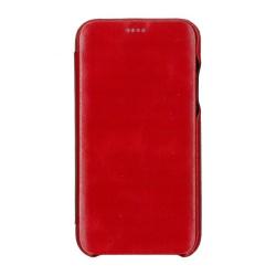 Husa book 360 din piele naturala Icarer pentru iPhone 11 Pro Max rosu Accesorii Diverse Telefoane