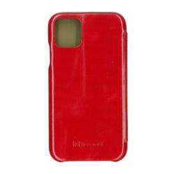 Husa book 360 din piele naturala Icarer pentru iPhone 11 Pro rosu Accesorii Diverse Telefoane