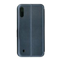 Husa de protectie tip carte 360 Window EuroCELL pentru Samsung Galaxy M10 albastru