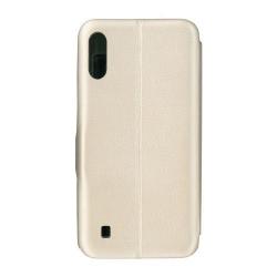 Husa de protectie tip carte 360 Window EuroCELL pentru Samsung Galaxy M10 auriu