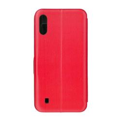 Husa de protectie tip carte 360 Window EuroCELL pentru Samsung Galaxy M10 rosu