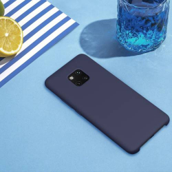 Husa din silicon mat cu interior de microfibra Nillkin Flex pentru Huawei Mate 20 Pro albastru Accesorii Diverse Telefoane