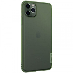 Husa din silicon Nillkin pentru Apple iPhone 11 Pro Max verde transparent Accesorii Diverse Telefoane