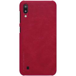 Husa flip tip carte pentru Samsung Galaxy M10 rosu - Nillkin Qin