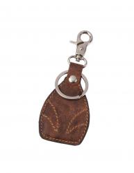Breloc cu carabina si inel pentru chei Everestus WS01 piele aliaj de zinc maro