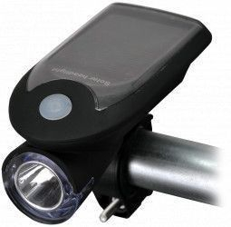 Lanterna LED pentru bicicleta cu panou fotovoltaic