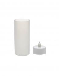 Lumanare electrica cu Led detasabil Everestus LPD17 plastic alb laveta inclusa