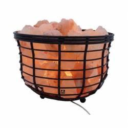 Lampa din sare 15W soclu E14 intrerupator suport cos metalic Corpuri de iluminat