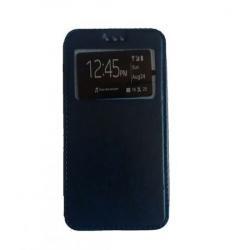 Husa Lenovo A1000 Flip Cover S-View Bleumarin Huse Telefoane