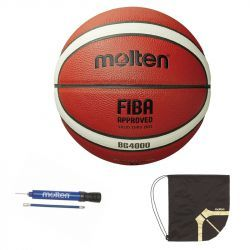 Minge baschet Molten B6G4000 aprobata FIBA marime 6 oficiala FRB pompa DHP21 si sac