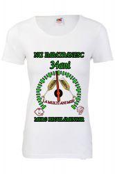 Tricou personalizat dama Fruit of the loom nu imbatranesc 34 alb M Tricouri dama