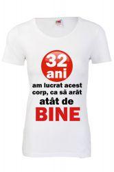 Tricou personalizat Fruit of the loom dama 32 ani S Tricouri dama