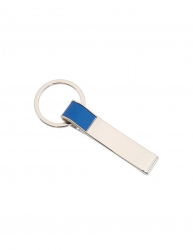 Breloc cu banda colorata Everestus KR0389 aliaj de zinc otel albastru argintiu Articole si accesorii birou