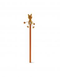 Creion amuzant pisicuta lemn Kidonero 8IA19024 portocaliu radiera inclusa