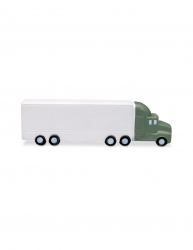 Jucarie antistres Camion Everestus ASJ023 poliuretan alb verde