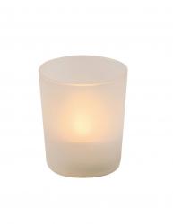 Lumanare electrica cu Led detasabil forma de cilindru Everestus LPD20 plastic alb laveta inclusa Lumanari si candele