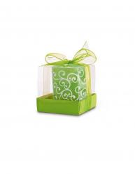 Lumanare in pahar de sticla Everestus LPD22 verde laveta inclusa